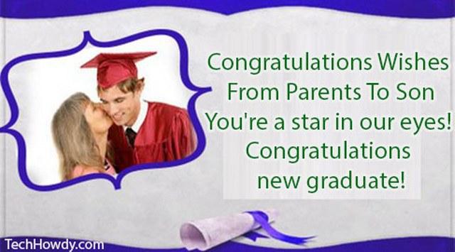 graduation messages parents