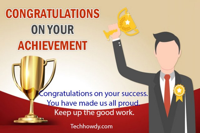 congratulations cards for your achievement
