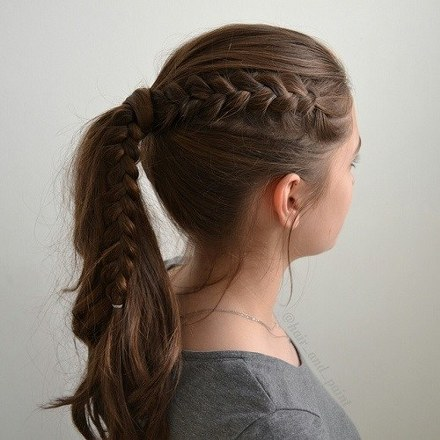 cool ponytail for girls