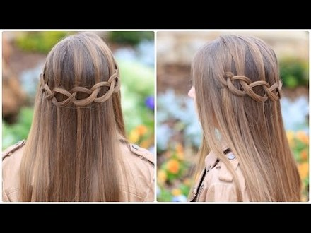 loop waterfall hairstyles forlittle girl