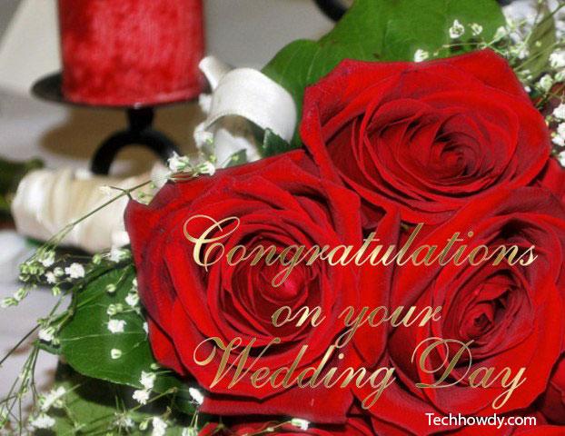 wedding day congratulations