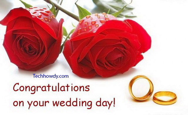 congratulations your wedding day