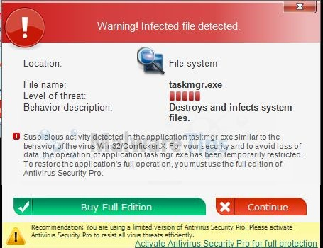 remove antivirus security pro