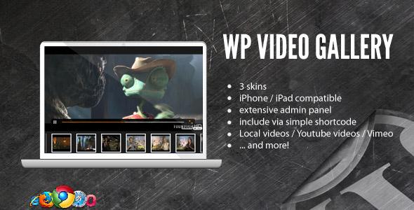 Video gallery wordpess