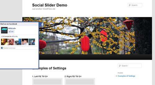 Facebook Likebox Slider