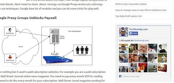 Facebook like box wordpress