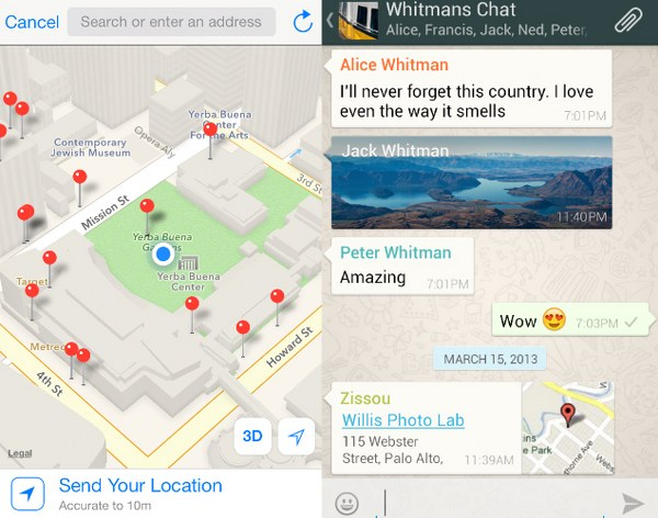 send fake location on whatsapp in iPhone