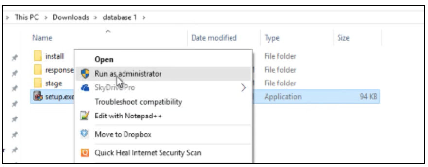 Steps to Install Oracle Database 12c on Windows 10