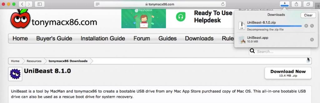 Download UniBeast From tonyMac