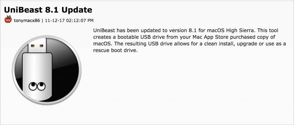 How to Create macOS High Sierra Bootable USB Installer with UniBeast - 2