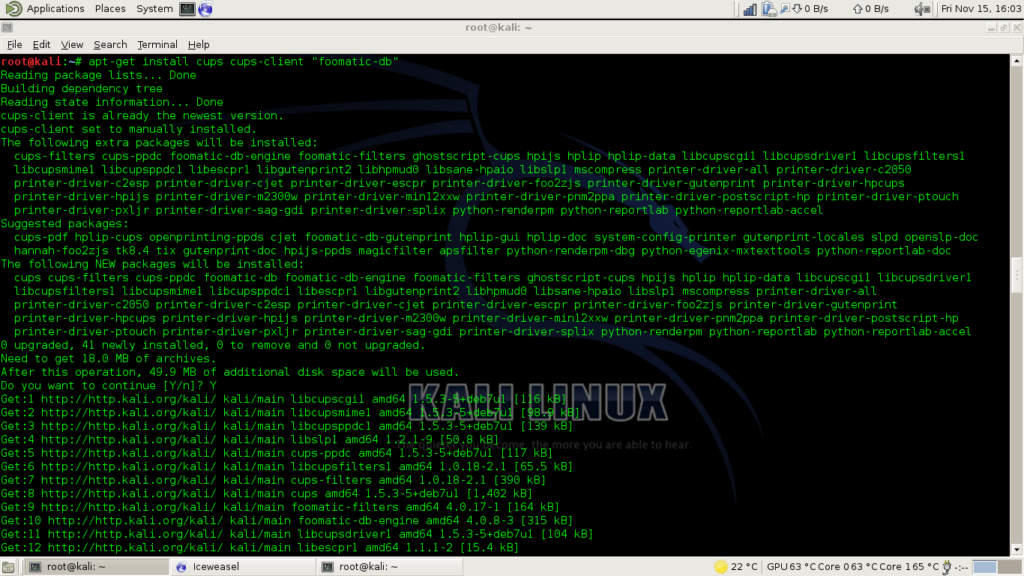 Strep 1: Install Required Packages to Install Configure Printers on Linux