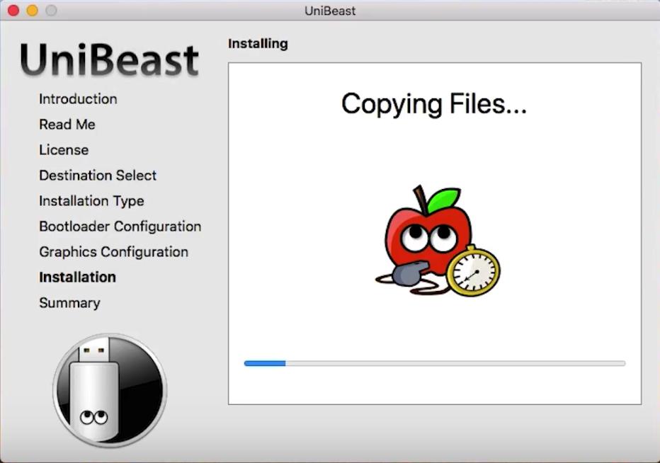 copy macOS High Siera file into USB Flash drive