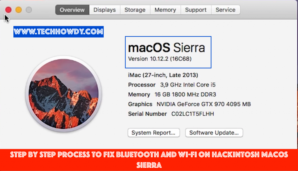 Step By Step Process to Fix Bluetooth and Wi-Fi on Hackintosh macOS Sierra