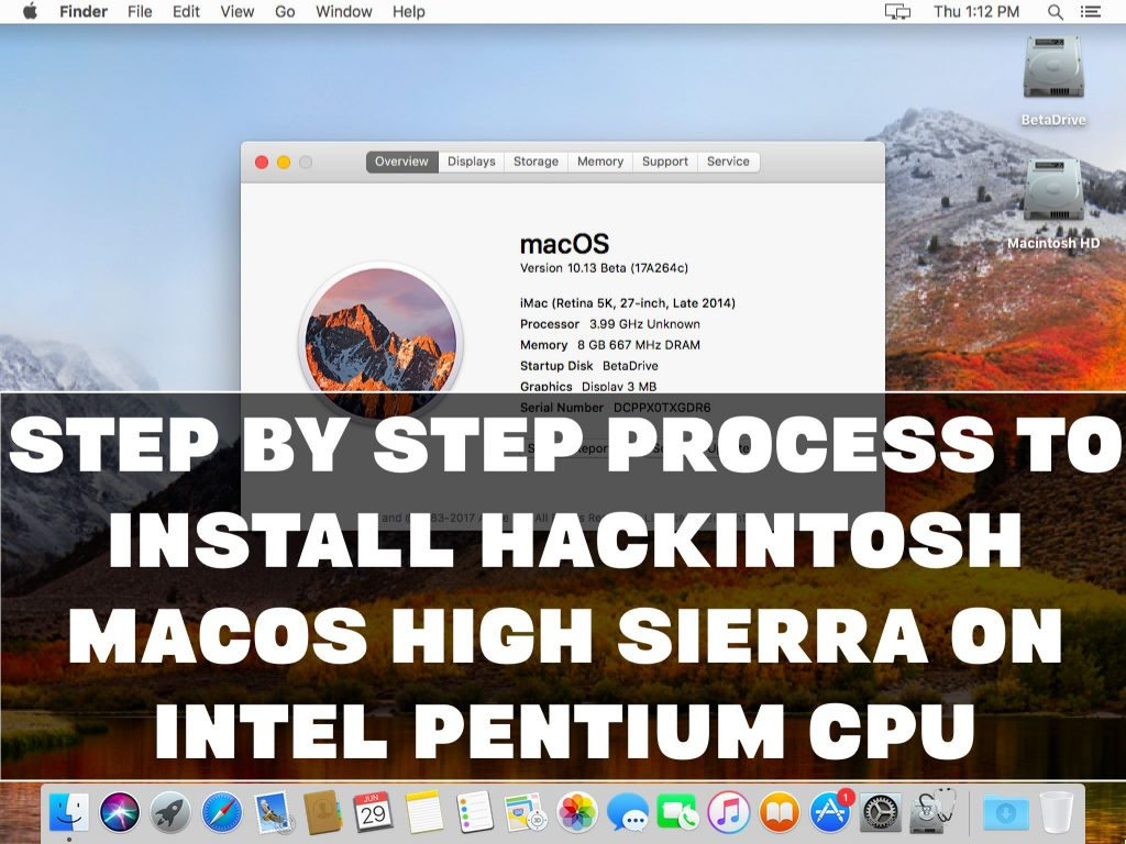 Step by Step Process to Install Hackintosh macOS High Sierra
