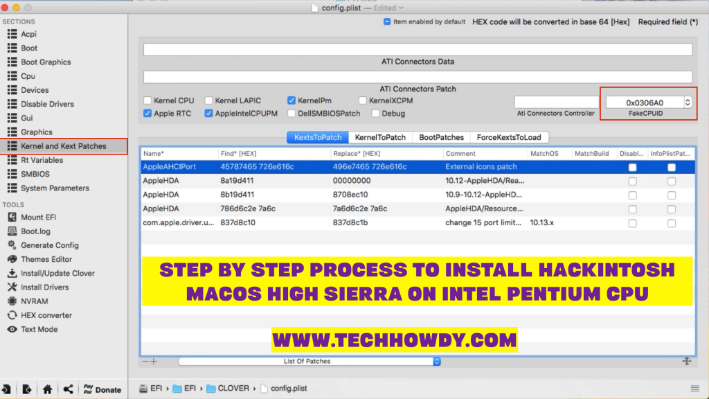 Step by Step Process to Install Hackintosh macOS High Sierra on Intel Pentium CPU -Step 20