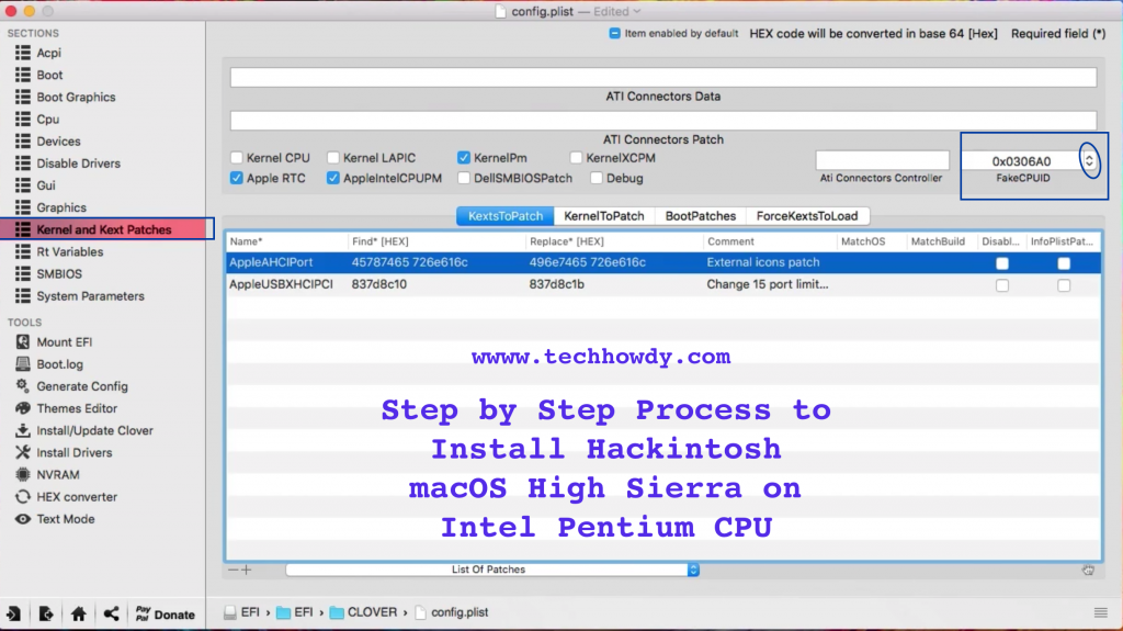 Step by Step Process to Install Hackintosh macOS High Sierra on Intel Pentium CPU -Step 5