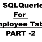Practice SQL Queries with Solutions For Employee Table – Part 2