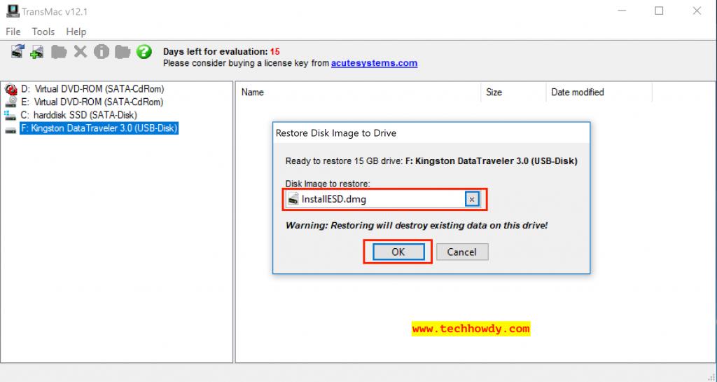Create macOS High Sierra Bootable USB Installer on Windows 10 - 13