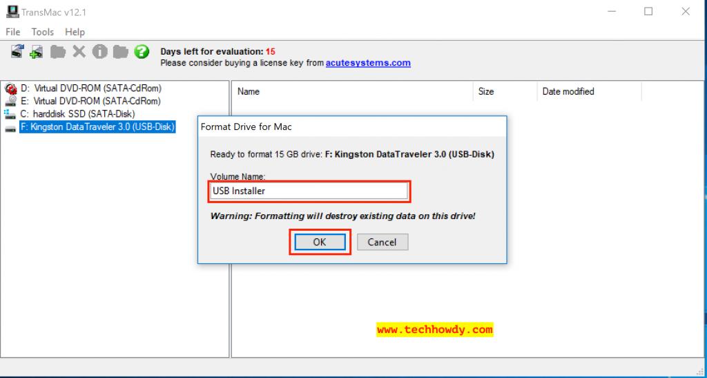 Create macOS High Sierra Bootable USB Installer on Windows 10 - 5