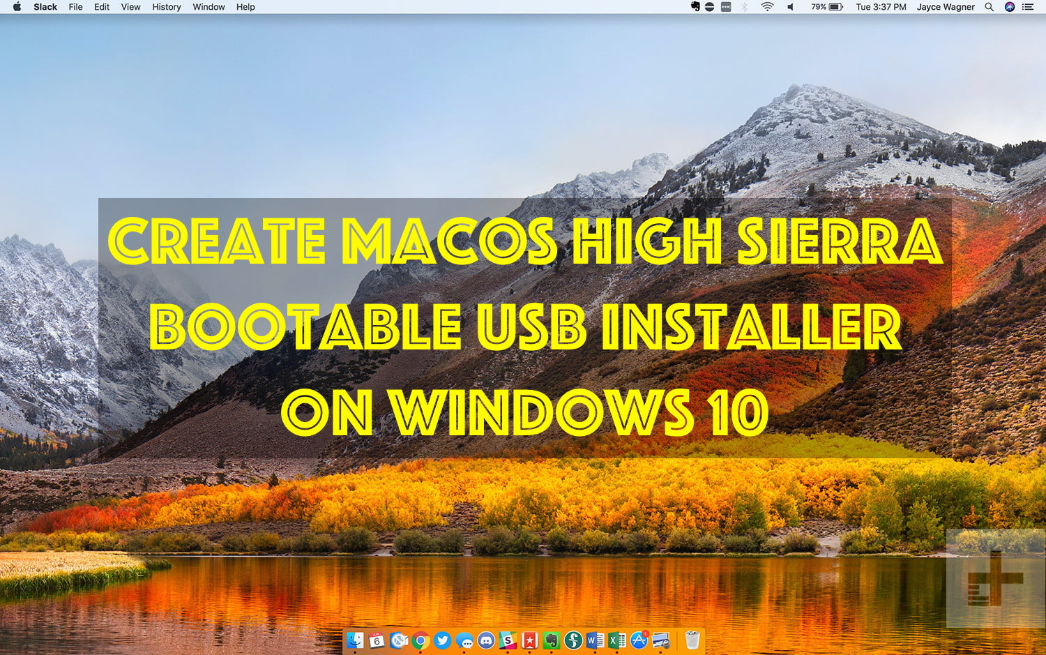 create bootable usb mac high sierra on windows