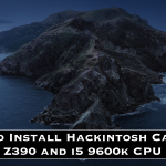 Process to Install Hackintosh Catalina on Z390 and i5 9600k CPU