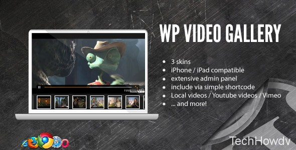 Video gallery wordpess