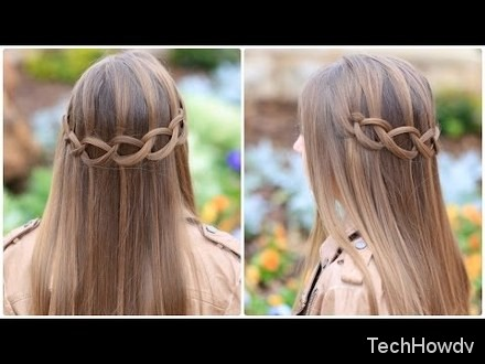 loop waterfall hairstyles forlittle girl