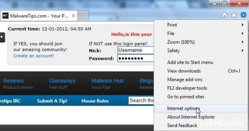 internet explorer yontoo removal