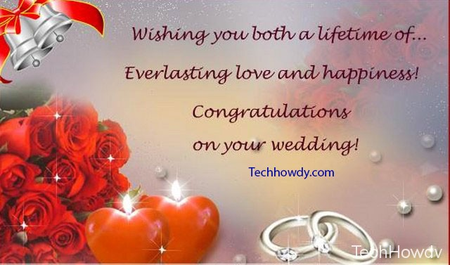 wedding congratulations wishes message