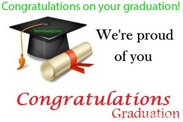 congratulations for graduation