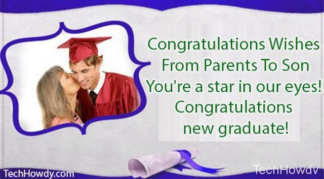 graduation messages parents