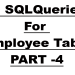 Practice SQL Queries with Solutions For Employee Table – Part 4