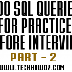200 SQL Queries for Practice before Interview -2