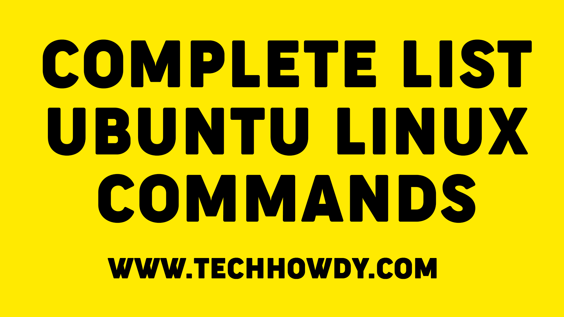 Complete List of Useful Ubuntu Linux Commands for Programmers